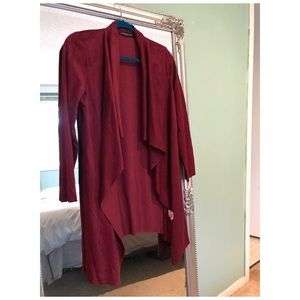 Jackets & Blazers - Italian Wool waterfall duster jacket